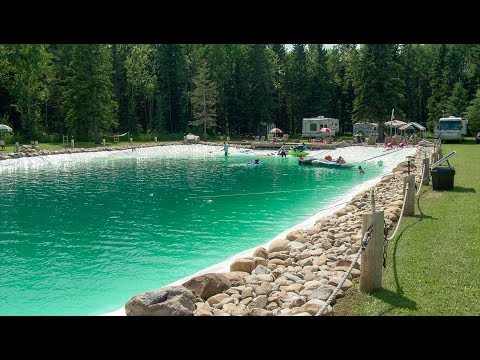 Shelley Wade - Man Builds 90-Foot Swimming Pool In His Backyard!