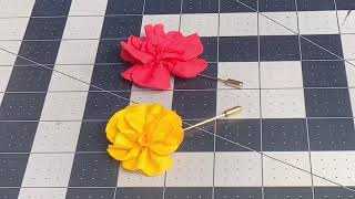 Updated Flower Lapel Pİn Tutorial with Amber Sewz