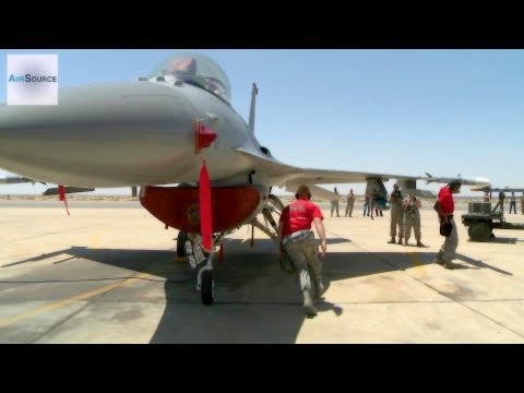 USAF Weapons Loaders Reload F-16 with Skills!