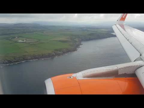 Scenic approach into the Isle Of Man (Ronaldsway) airport. Easyjet A320