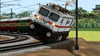 Live Train Accident High Speed Rajdhani Express overspeeding on Curve - indian railways 2021 screenshot 5