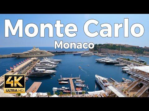 Monte Carlo, Monaco Walking Tour (4k Ultra HD 60fps)