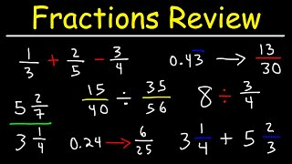 Fractions, Mixed Numbers, Decimals, & Percents - Review
