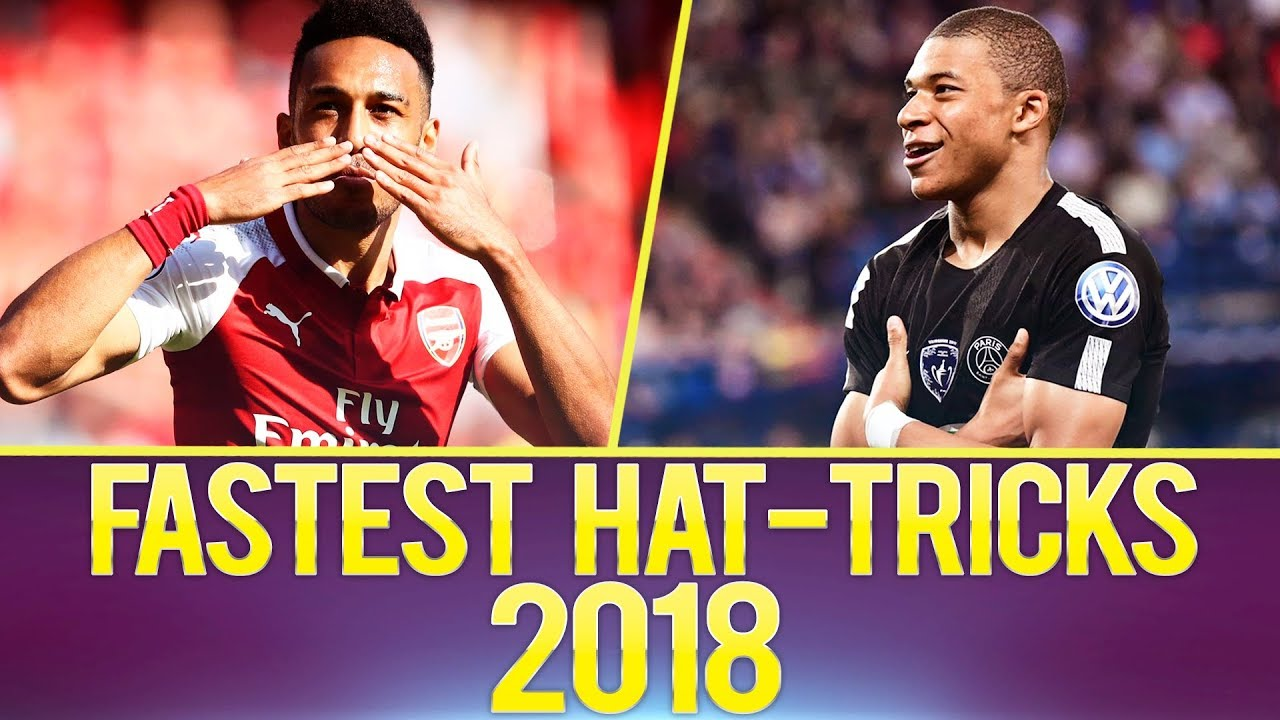 Top 10 FASTEST Hat-Tricks Of The Year 2018 - YouTube e573f78821f
