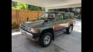 1985 Hilux Surf SSR Turbo Diesel 4x4 LN61 in the USA - POV Walk Around and Long Drive