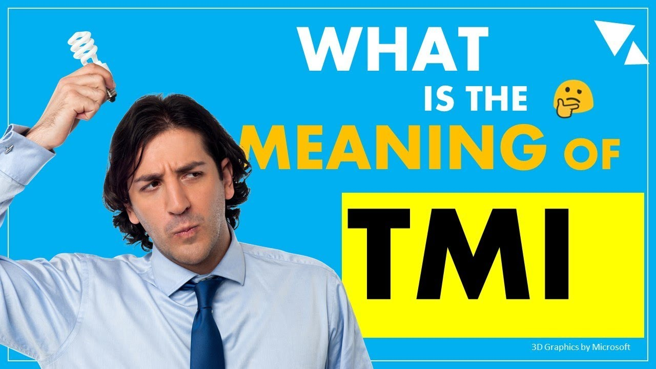 TMI - what is the meaning of Internet Slang - YouTube