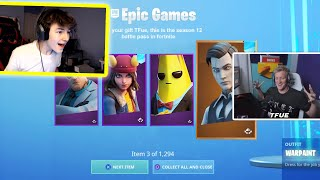 Every Death I GIFTED the Season 12 Battlepass to Fortnite Streamers...