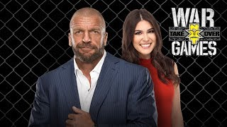 Triple H's exclusive interview with Cathy Kelley after NXT TakeOver: WarGames