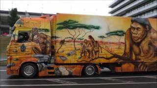 4 Herpa Trucks der Spedition Schumacher Würselen verlassen den Truck Grand Prix am Nürburgring 2017
