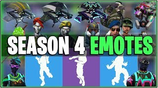 *NEW* Fortnite: SEASON 4 LEAKED EMOTES! | (Unreleased Emotes,Skins, and More!)