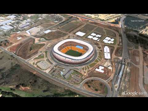 Google Earth/Digital Globe images of FNB Stadium for #MandelaMemorial