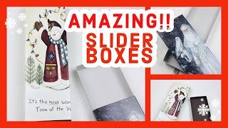 📌📌STOCKING STUFFER ALERT📌📌  [[SKINNY SLIDER BOXES]] Made From A Greeting Card...⭐️⭐️STUNNING⭐️⭐️