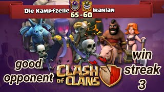 Die Kampfzelle vs iranian | war recap | win streak 3 | best of clan war | COC clash of clans 2018
