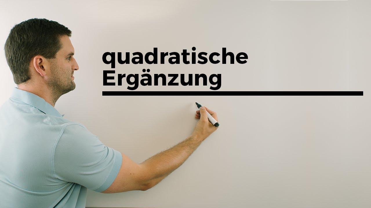 Quadratische Ergänzung, Ausklammern aber Zahl ohne X \