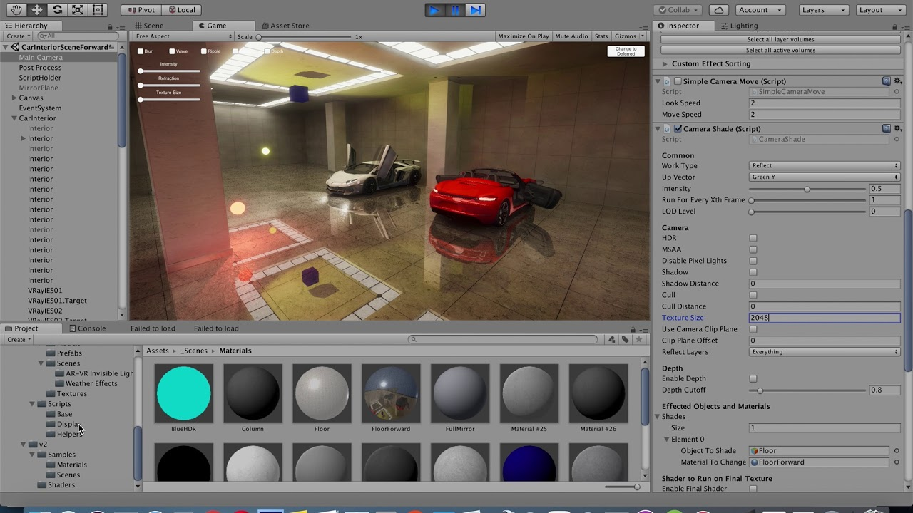 Standard Render Pipeline Reflective Shaders - Unity - Unity3d