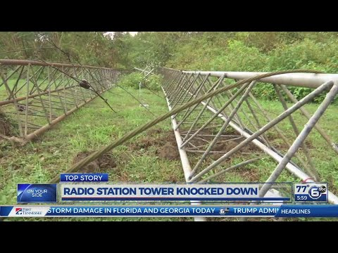 Kentucky radio station tower knocked down