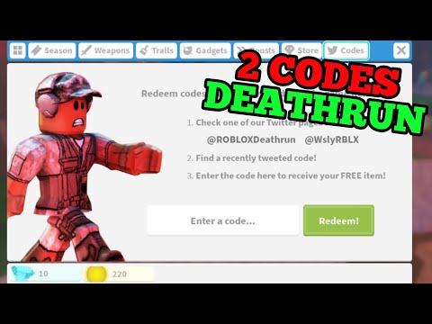 Roblox Deathrun Codes 2019 Youtube