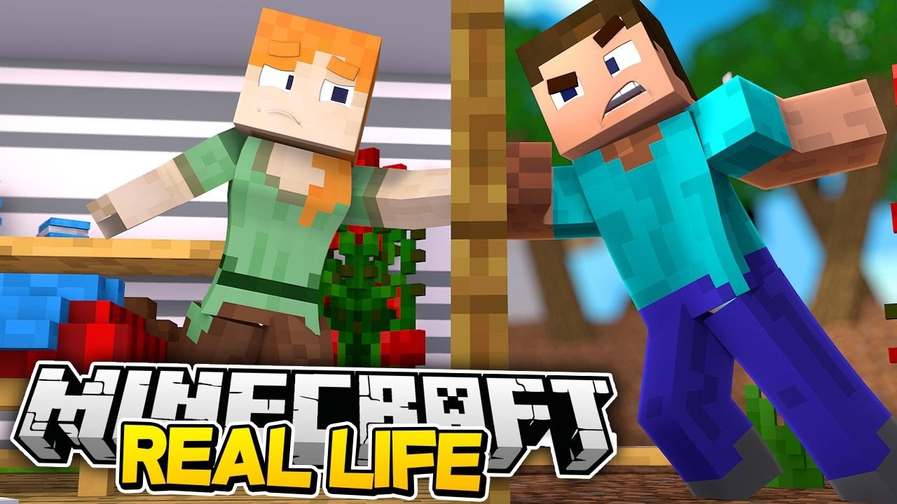 Minecraft REAL LIFE - MINECRAFT STEVE IS A BANK ROBBER ...