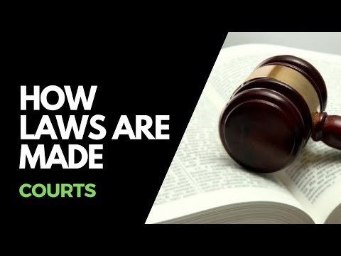 How laws are made - Courts