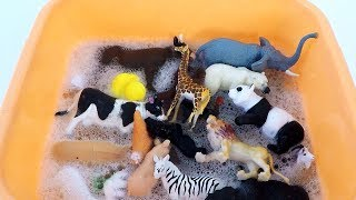 Learn Farm Animals Names and Sounds Learn Wild Animals and Sea Animal Toys for Kids