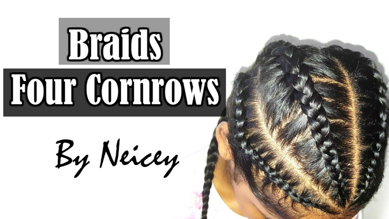 Four Cornrow Boxer Braids Back To School Hairstyle Tutorial  BEAUTY BOX.X