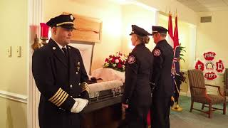 Firefighter Funeral: Retired Fire Chief Bindbeutel