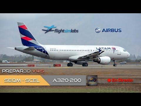 DIRECTO [P3Dv4.5] FSLabs A320-200 | SEQM - SCEL  | IVAO (ESP/ENG)