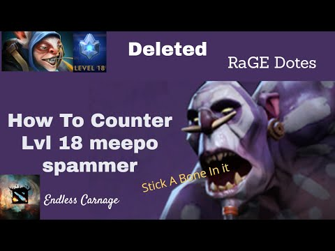 How to counter LVL 18 MEEPO SPAMMER! Witch Doctor Mid Gameplay