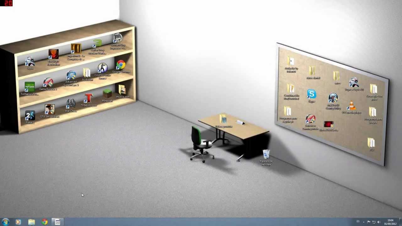 Como tener un buen fondo de pantalla y ordenado youtube for Fondos de escritorio para pc