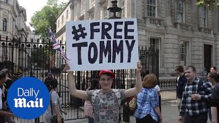 Far-right protesters descend on Whitehall after Tommy Robinson arrest