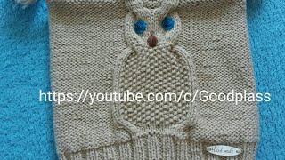 Шапка сова на ребенка. Вязание спицами. Часть 1 Knitting(Hobby).