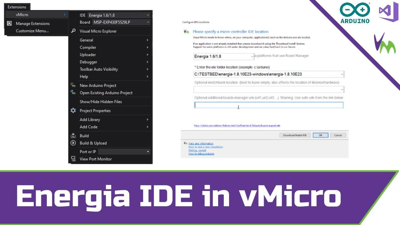Installing Energia IDE for Visual Micro in Visual Studio