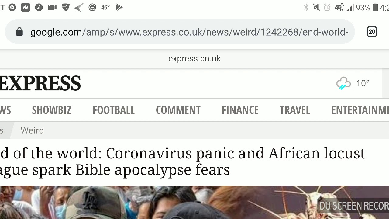 End of the world: Coronavirus panic and African locust ...