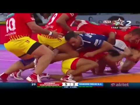 Gujarat FortuneGiants vs Dabang Delhi Kabaddi Club: Season 5, Match 1