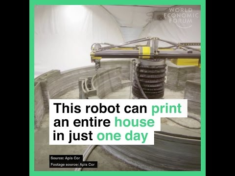 This robot can print an entire house in just one day