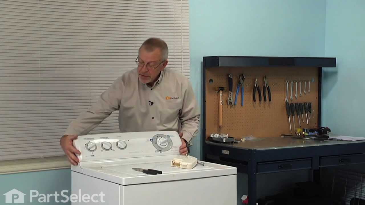 Washing Machine Repair - Replacing The Timer  Ge Part   Wh12x10348