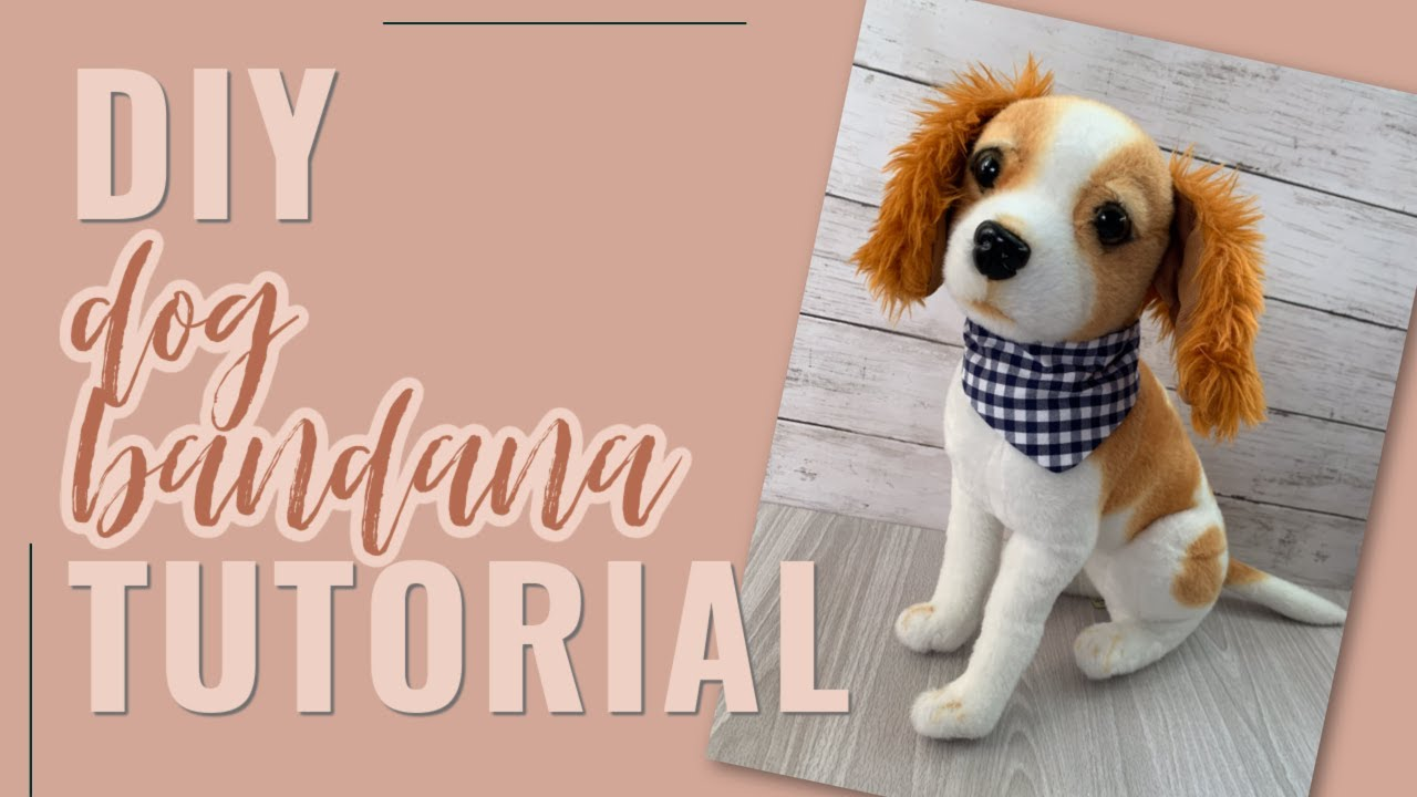 DIY Made-To-Measure Over-The-Collar Dog Bandana Tutorial