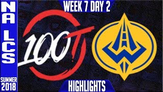 Video 100 vs GGS Highlights | NA LCS Summer 2018 Week 7 Day 2 | 100 Thieves vs Golden Guardians download MP3, 3GP, MP4, WEBM, AVI, FLV Agustus 2018