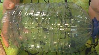 Ловушка для мелкой рыбы из пластиковой бутылки