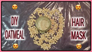How To Make DIY Oatmeal Hair Mask For Growth Moisture Softness All Hair Types