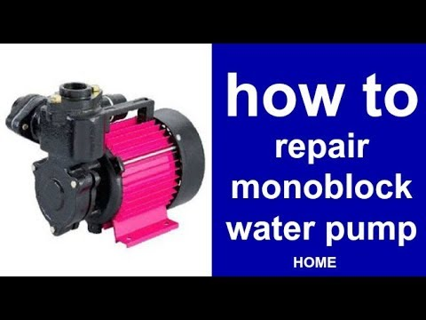 how to repair monoblock water pump electric motor Single Phase Induction motor