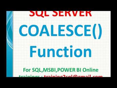 SQL Server Interview Question | Coalesce Function in SQL | SQL Coalesce function