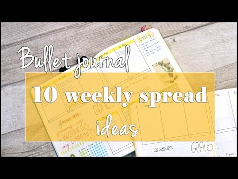 bullet journal 10 weekly spread ideas youtube. Black Bedroom Furniture Sets. Home Design Ideas