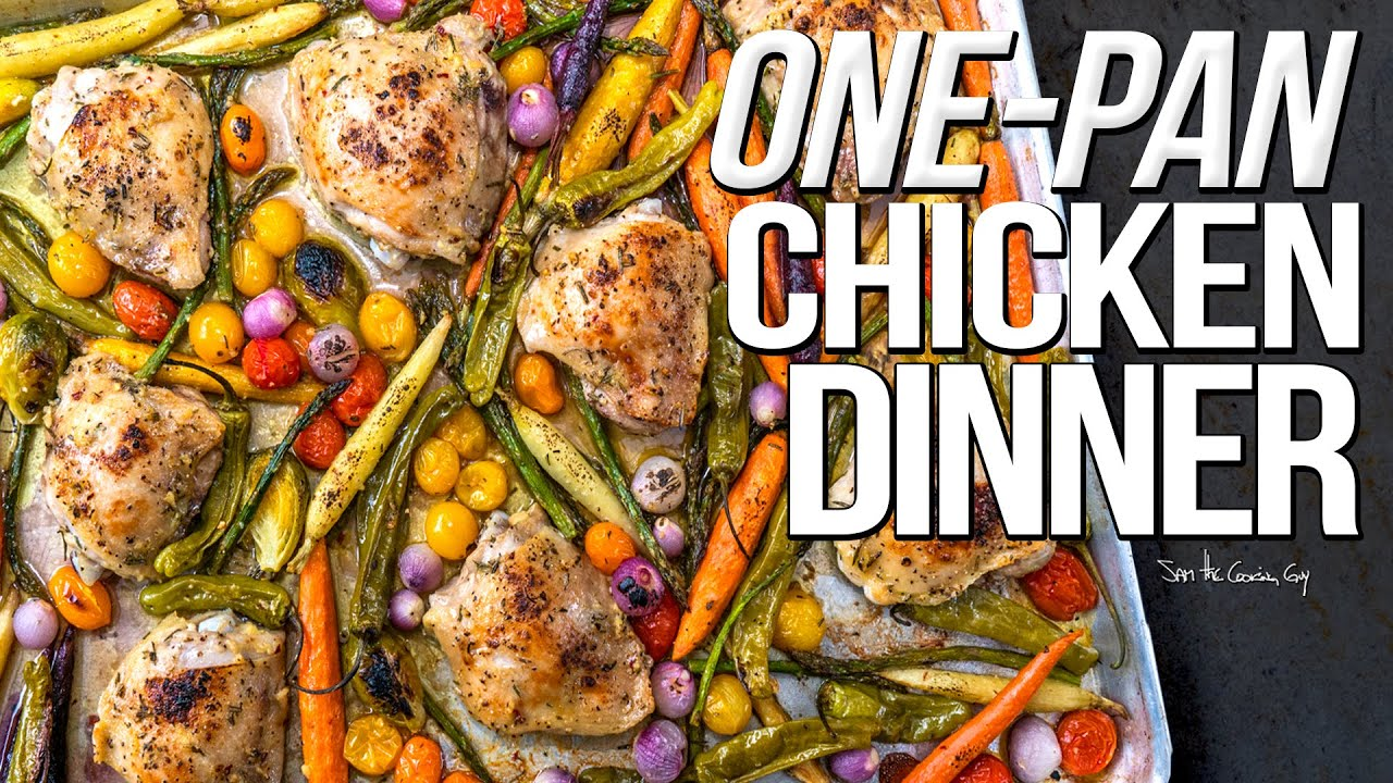 Easy One Pan Chicken Dinner Sam The Cooking Guy 4k Cooking Shows
