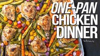 ONE PAN CHICKEN DINNER (KETO?) | SAM THE COOKING GUY 4K