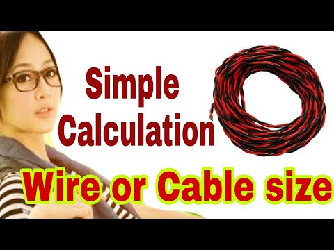 Wire size calculation | very easy method to find amps rating for cable thumbnail