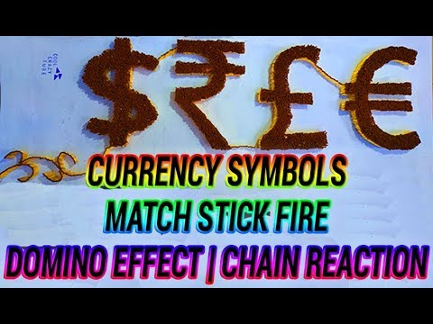 Match Stick Currency Symbols, Fire Chain Reaction Short Video