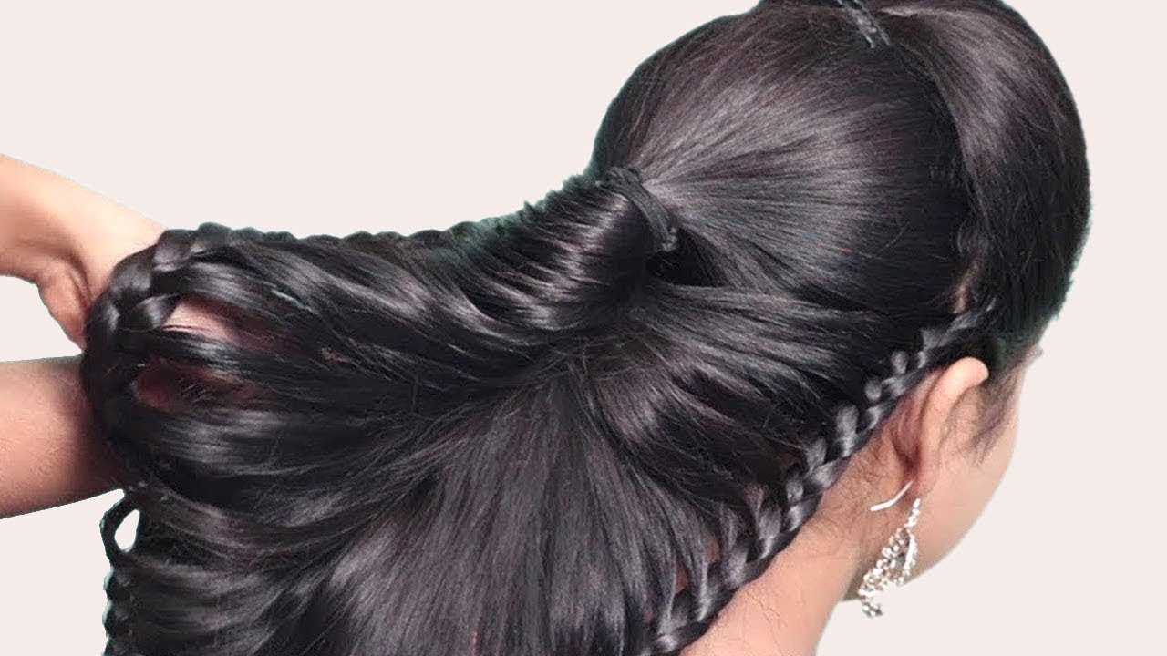 Easy Braid Hairstyle Step By Step For Medium Hair Party Hairstyle Hair Style Girl Hairstyles Youtube