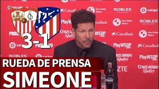 Sevilla 3-1 Atlético Madrid | Rueda de prensa de Simeone | Diario AS