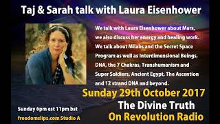 Taj & Sarah Adams talk with Laura Eisenhower on The Divine Truth on Revolution Radio